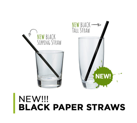 NEW!!! Black Paper Straws