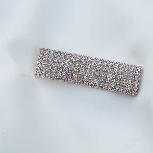 Rectangular luxe rhinestone hair clip