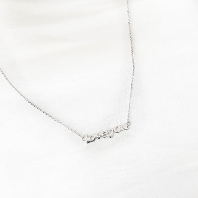Sterling silver Love You necklace