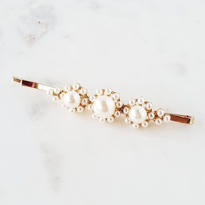Single pearl hair pin