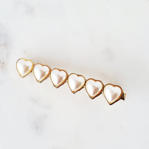 Hearts of heart hair clip