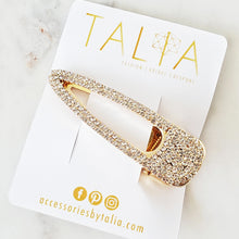 Oversized gold rhinestone hair clip