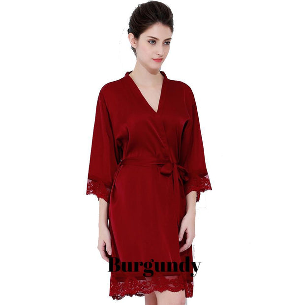 Silk & Lace Trim Robe