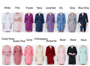 Full color selection for solid satin lace robes