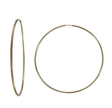 large gold filled hoop