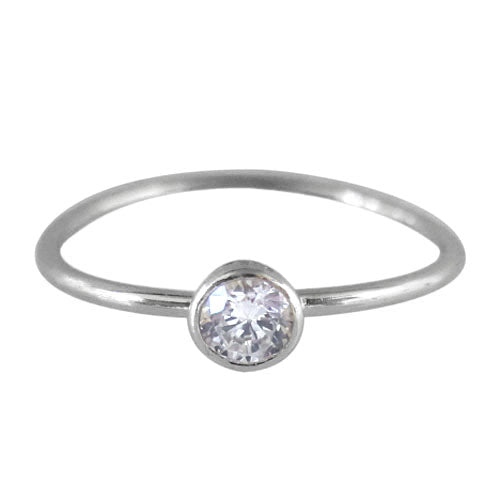 sterling silver and cubic zirconia stacking ring