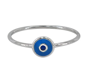 sterling silver evil eye stacking ring