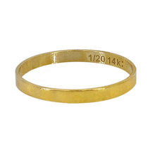 14k gold filled thick stacking ring