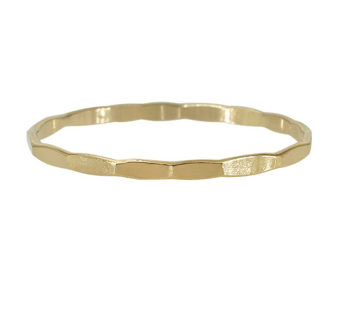 14k gold filled hammered band
