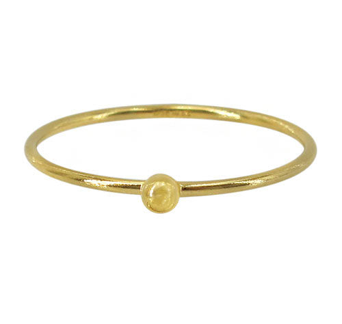 14k gold filled ball stacking ring