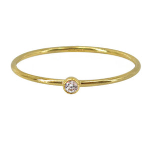 14k gold filled cubic zirconia stacking ring