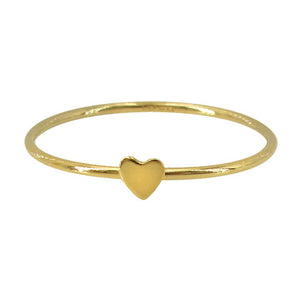 14k gold filled heart stacking ring