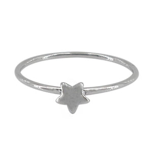 Sterling silver star stacking ring