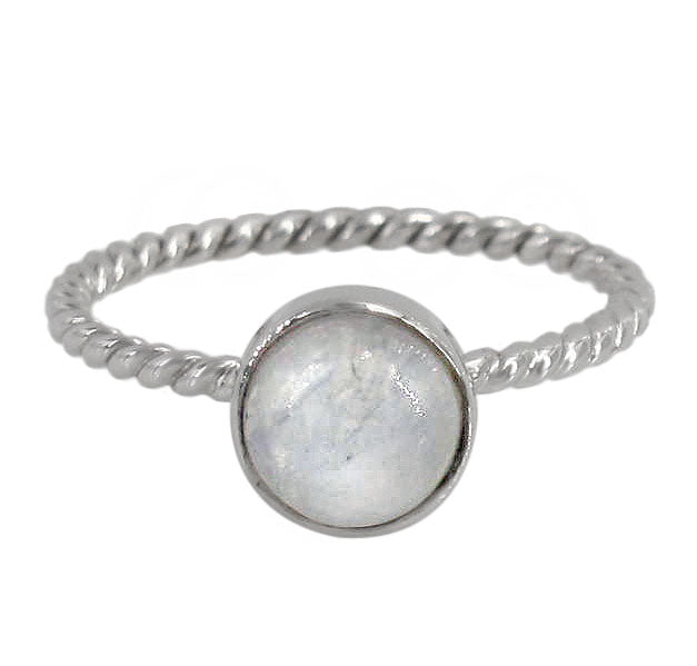 Moonstone sterling silver ring