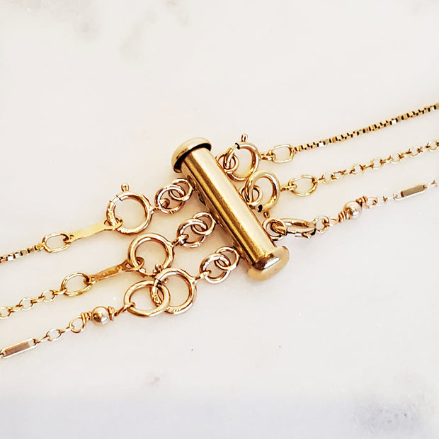 gold filled necklace detangler