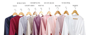 Lace trim satin robes