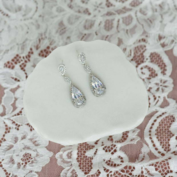 Bella cubic zirconia earrings