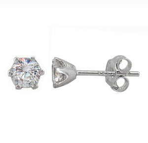 Sterling Silver & Cubic Zirconia Studs