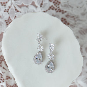 Aria cubic zirconia earrings