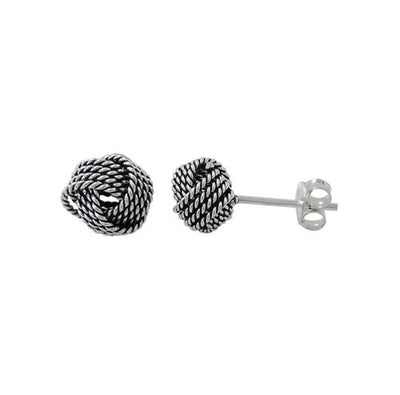 Love Knot Earrings (oxidized)