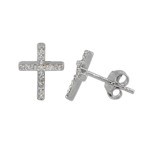 Sterling silver and cubic zirconia studs