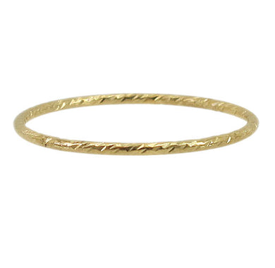 14k gold filled textured stacking ring