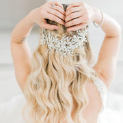 Floral and crystal hair vine