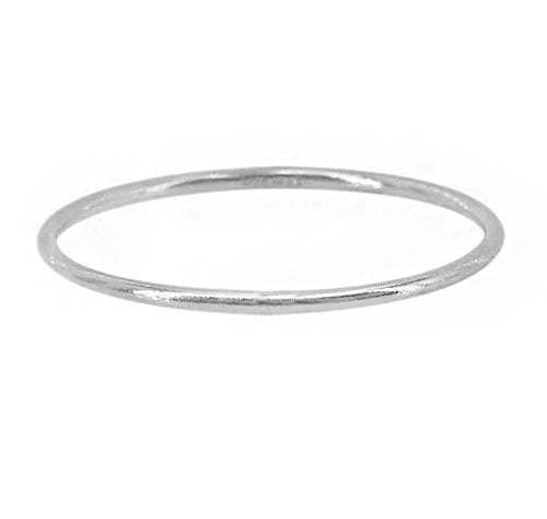 Solid sterling silver stacking ring