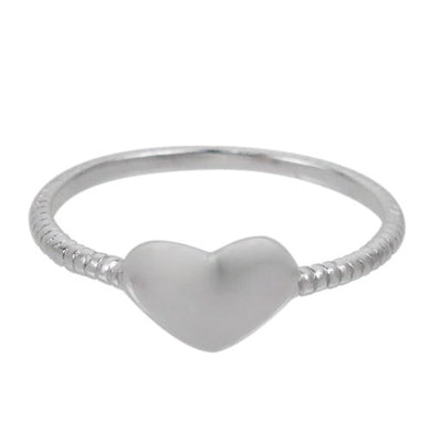 Sterling silver heart stacking ring
