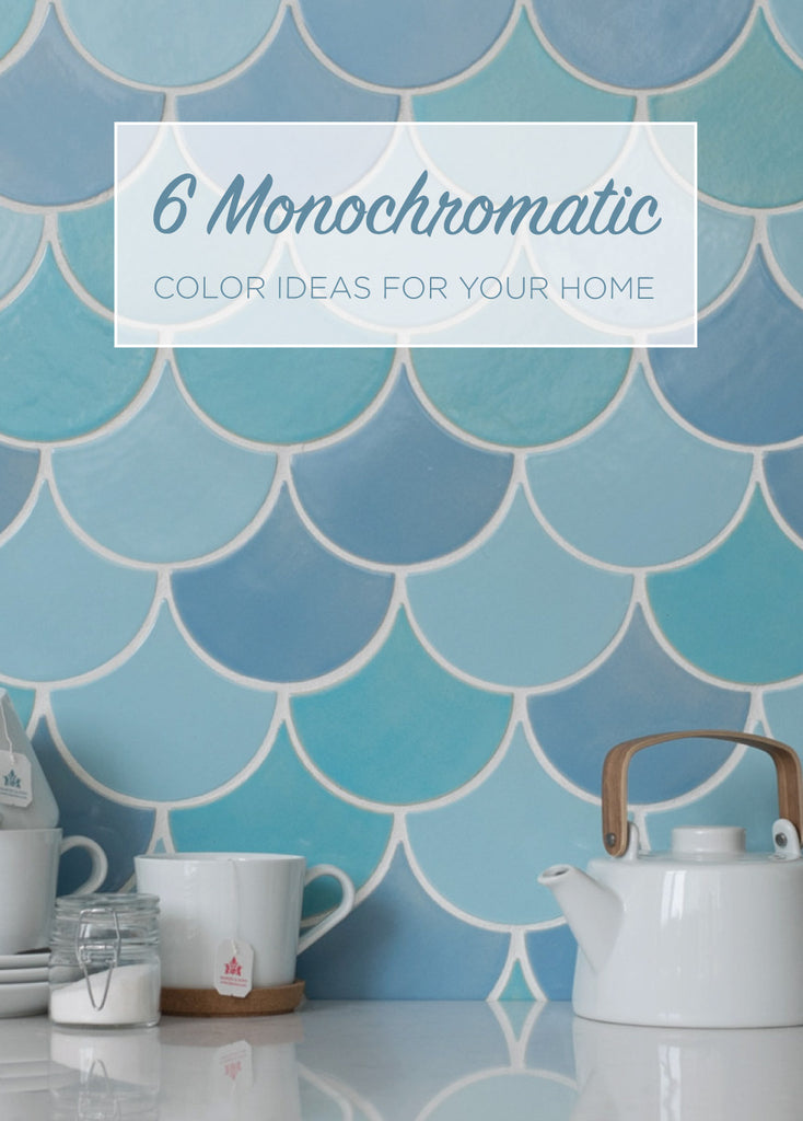 6 Monochromatic Ideas For Your Home Mercury Mosaics