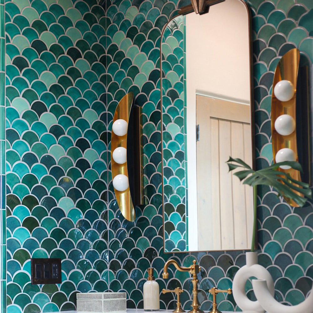 Art Deco Powder Room Tile