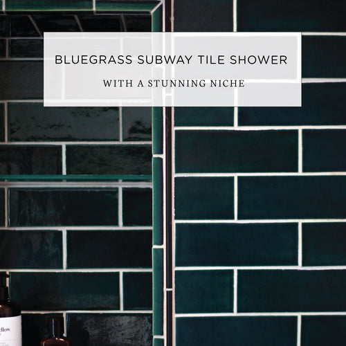 Bluegrass Subway Tile Shower with a Stunning Niche