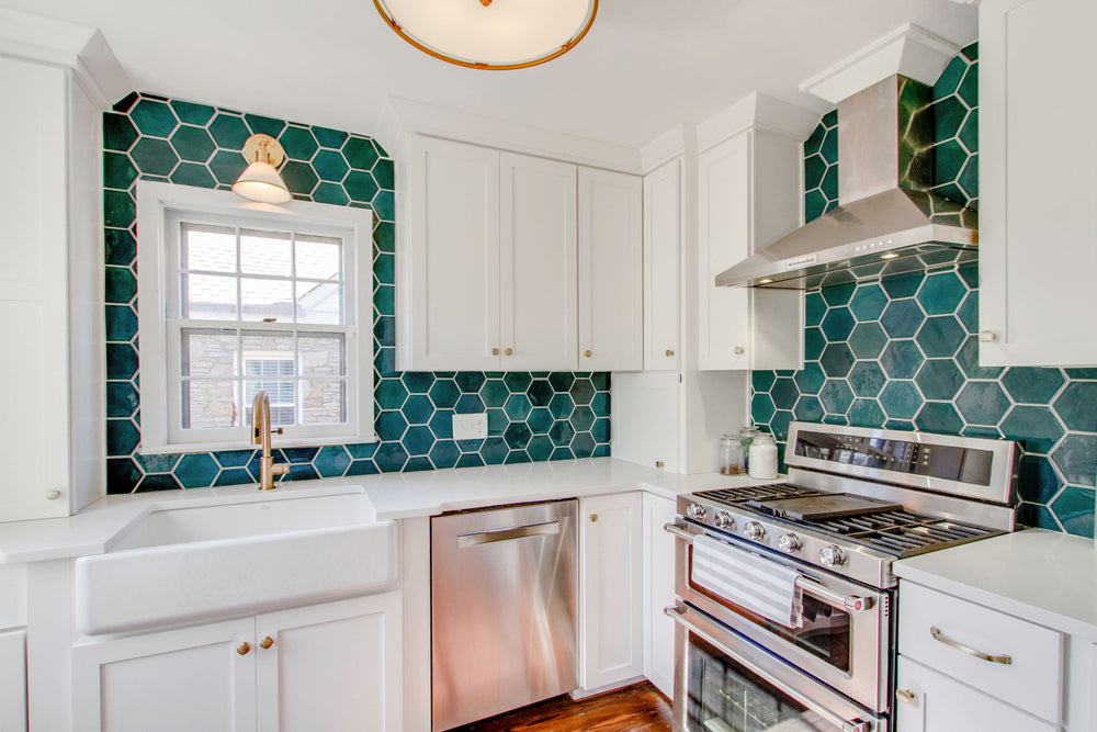 Boho Bungalow Hexagon Backsplash