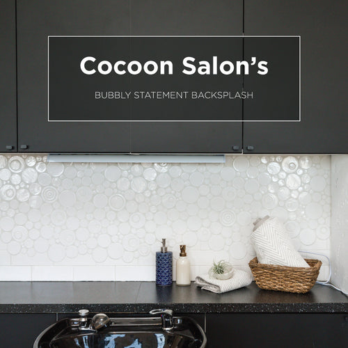 Cocoon Salon's Bubbly Statement Backsplash
