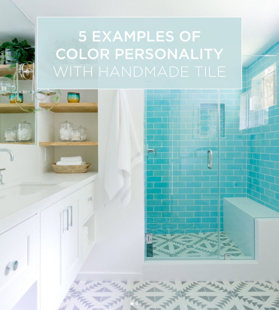5 Phenomenal Bathroom Tile Combinations: 5 Examples Of Color Personality With Handmade Tile