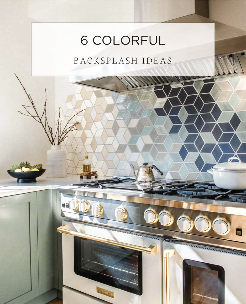 4 Unique Colorful Kitchen Backsplash Ideas Mercury Mosaics