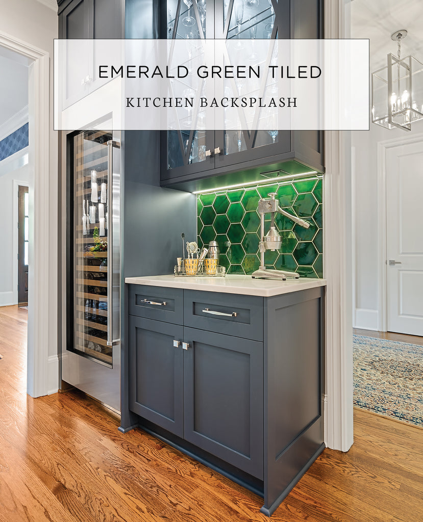 - Why We Love This Emerald Green Tile Backsplash Mercury Mosaics