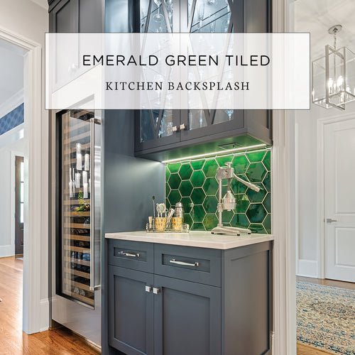 Emerald Green Tiled Kitchen Backsplash