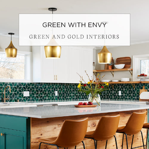 green and gold interiors