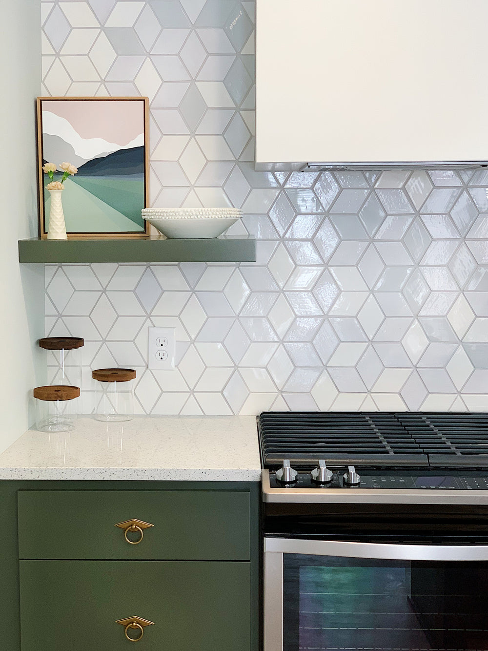 HGTV's Stay or Sell Ombre Diamond Tile Kitchen