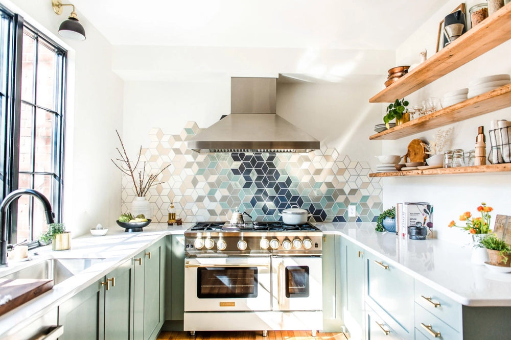 Heartbeet Kitchen's Ombre Tile Backsplash
