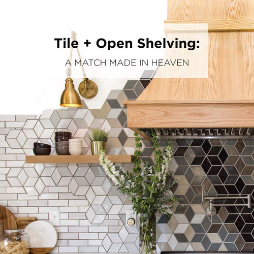 Open Shelving and Tile