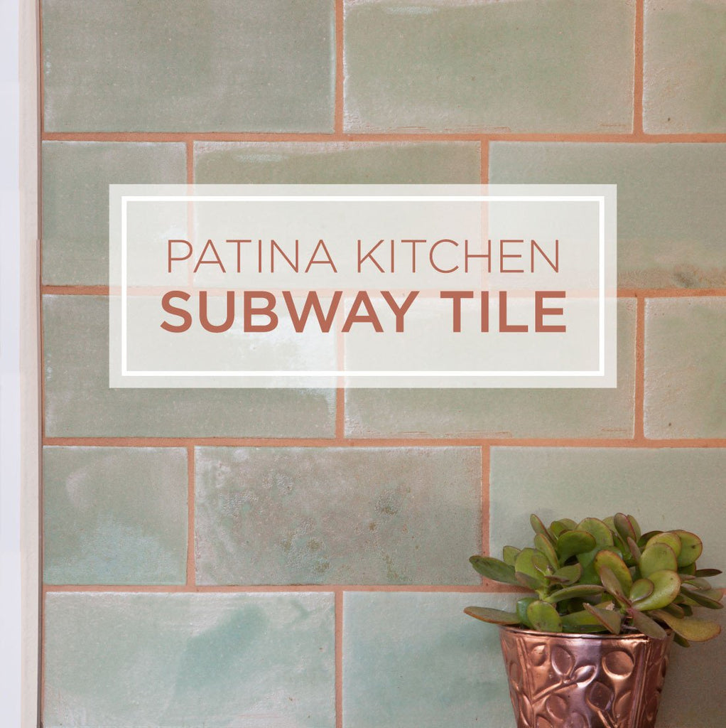 A Patina Subway Tile Backsplash