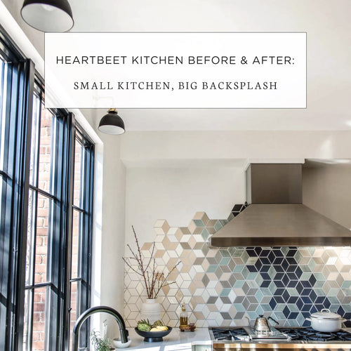 Heartbeet Kitchen Before & After: Small Kitchen, Big Backsplash