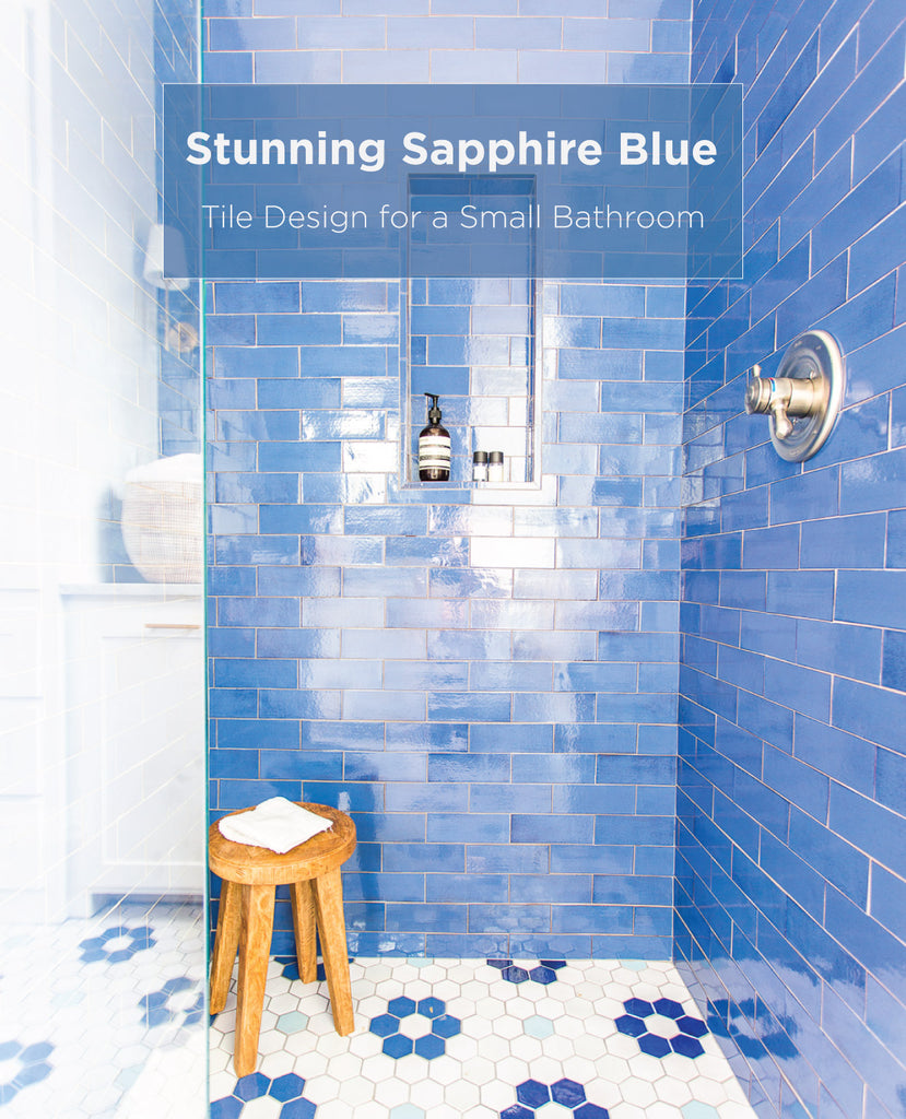 Polished Stunning Sapphire Blue Tile Design Mercury Mosaics
