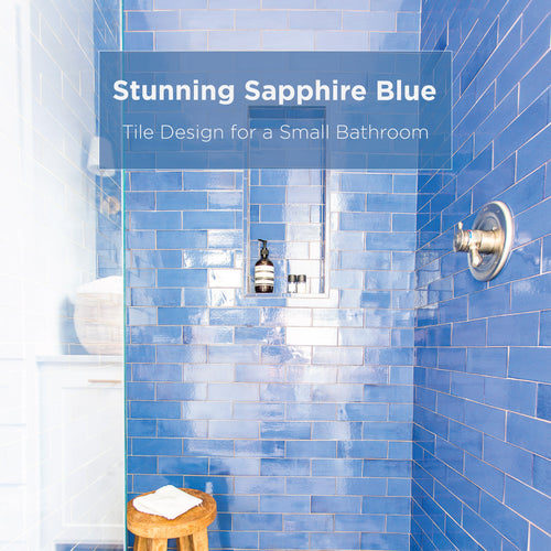 Stunning Sapphire Blue Tile Design for a Small Bathroom