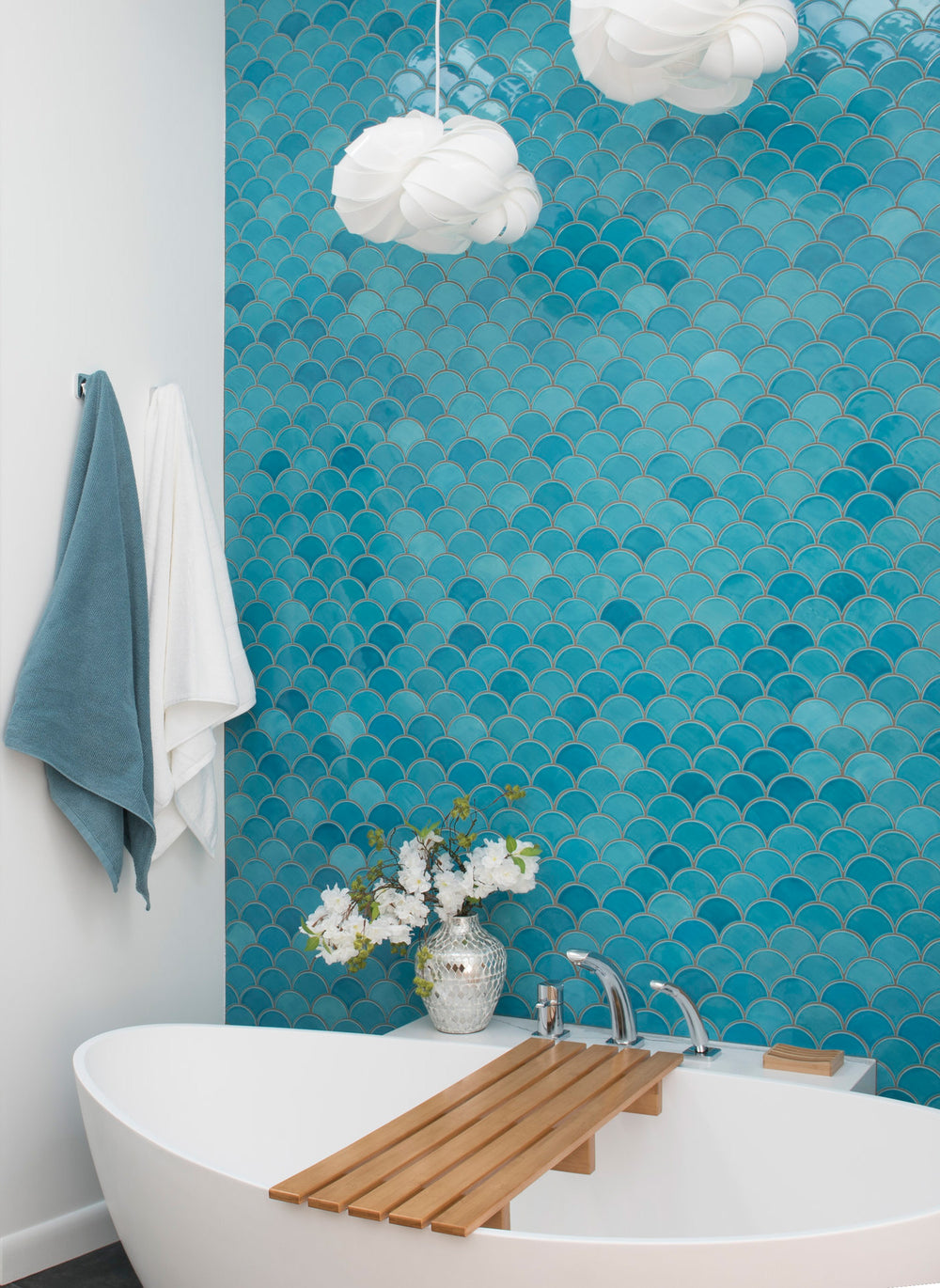Watery Blue Fish Scale Master Ensuite