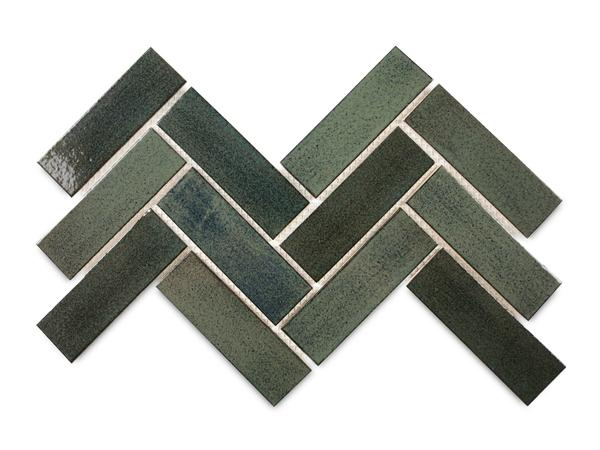 2x6 Subway Tile Herringbone 28 Everglades