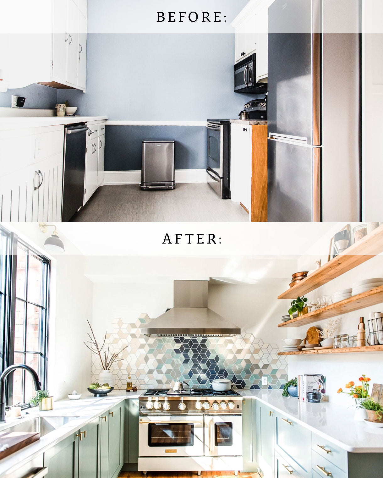 Before & After Small Kitchen Renovation