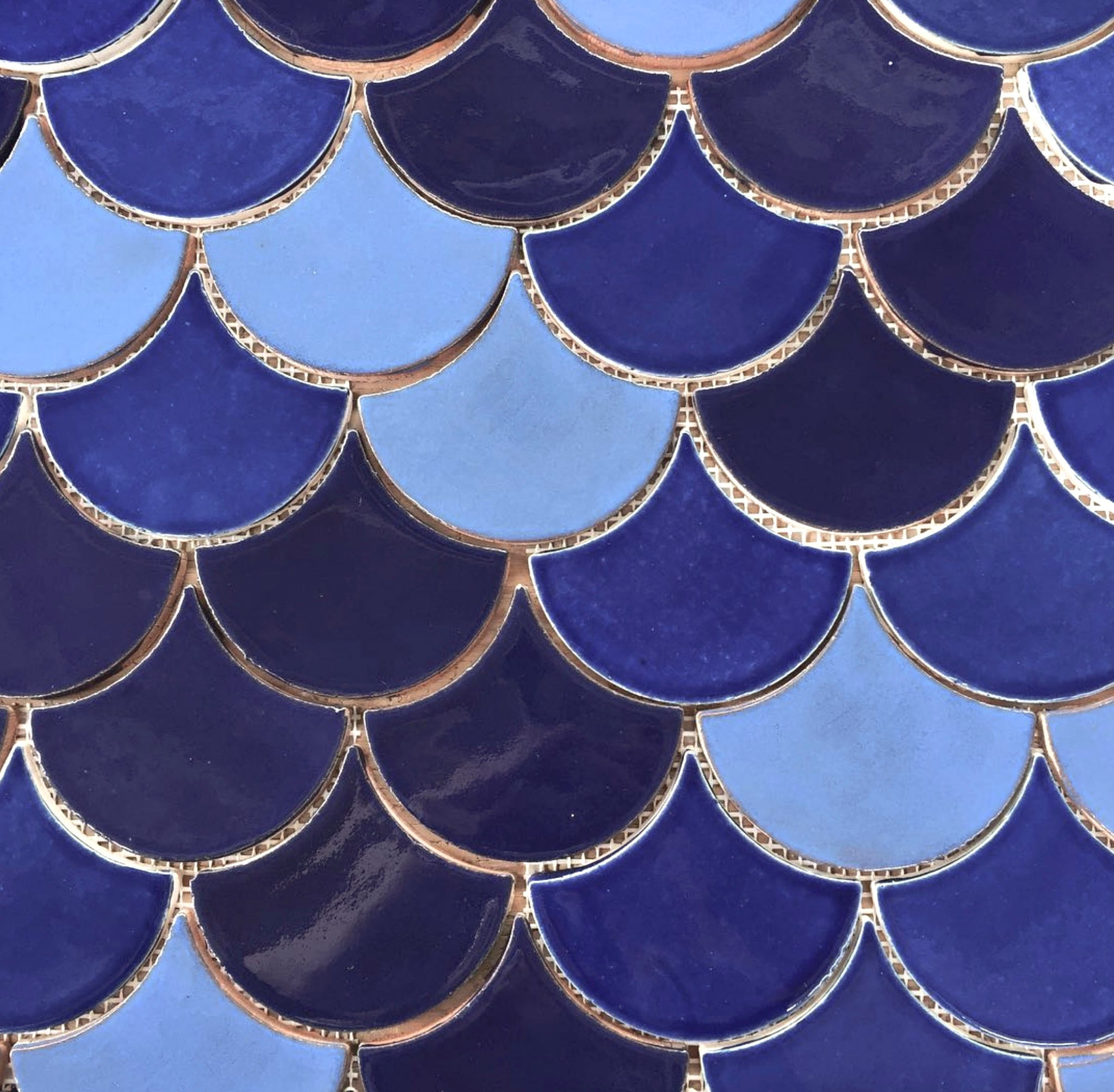 Blue Moroccan Fish Scales